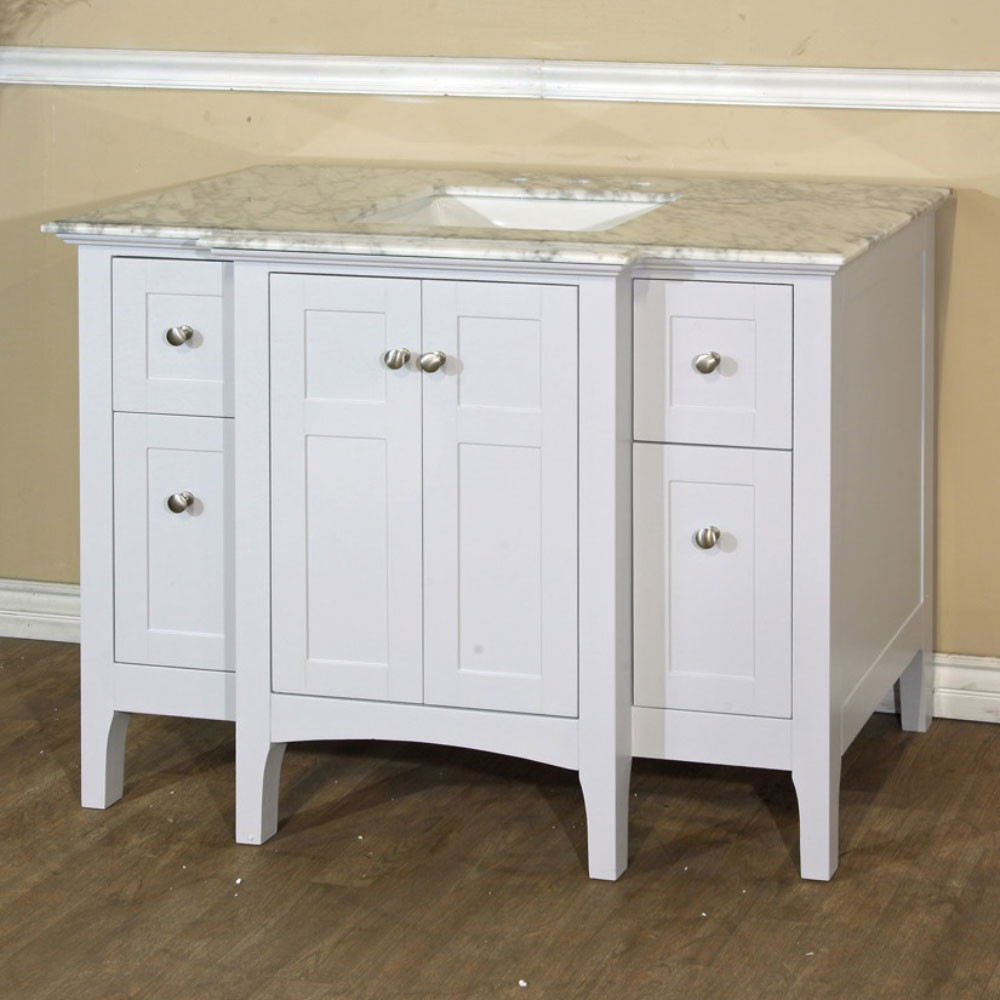 Bellaterra Home 7614-WH-WH 45-Inch Single Sink Vanity In White