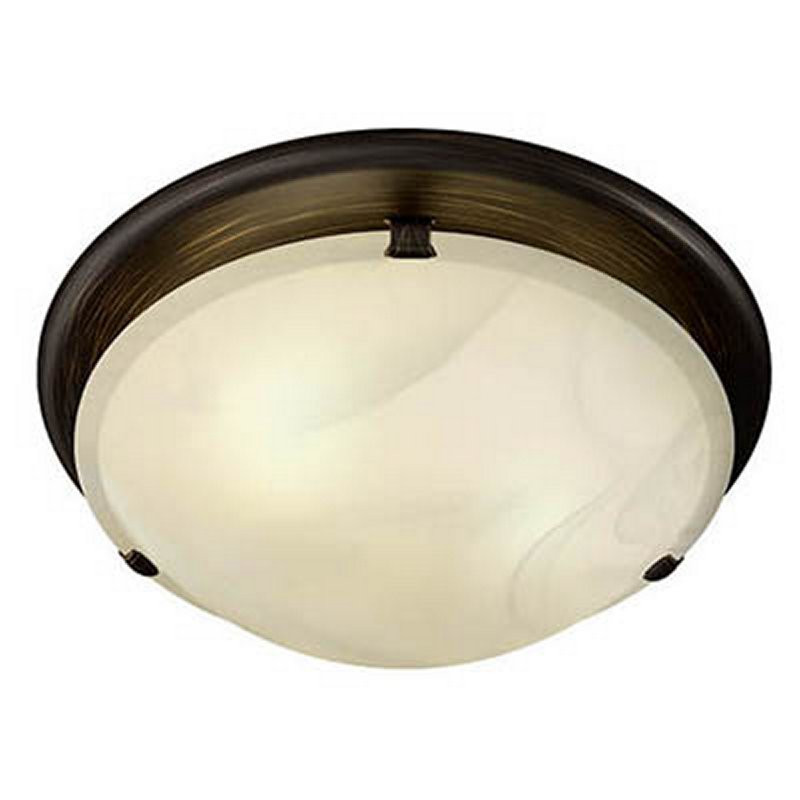 Broan 761RB Ventilation Fan Oil-Rubbed Bronze with Ivory Alabaster Glass