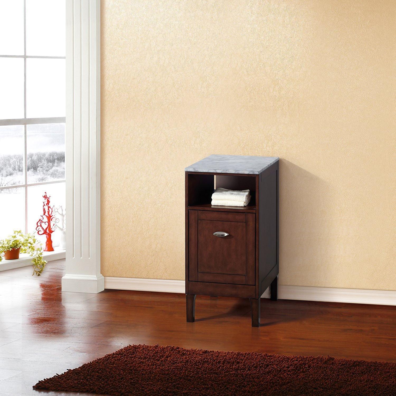 Bellaterra Home 7711-SW Birch Plus Veneer Bathroom Cabinet In Walnut