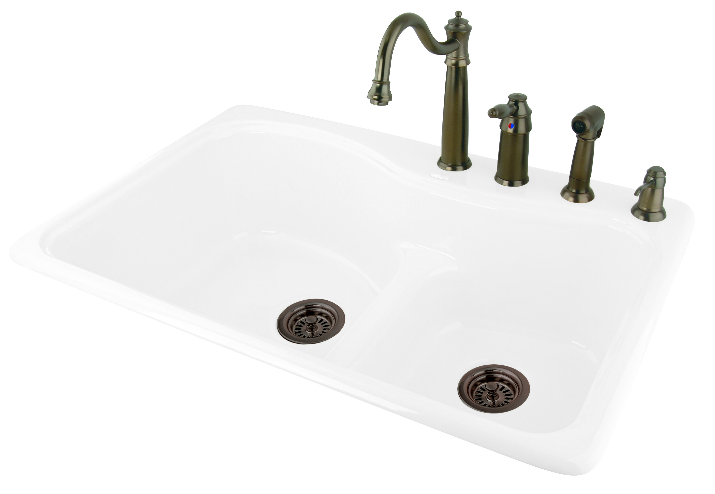 CECO 775-LD Low Dam 33'' x 22'' Self-Rimming Cast Iron Kitchen Sink