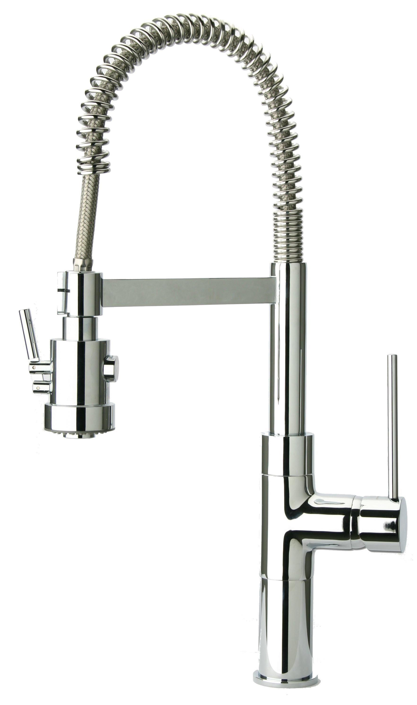 Latoscana 78CR557PHD Elba Single Handle Pull-Out Spray Kitchen Faucet - Chrome