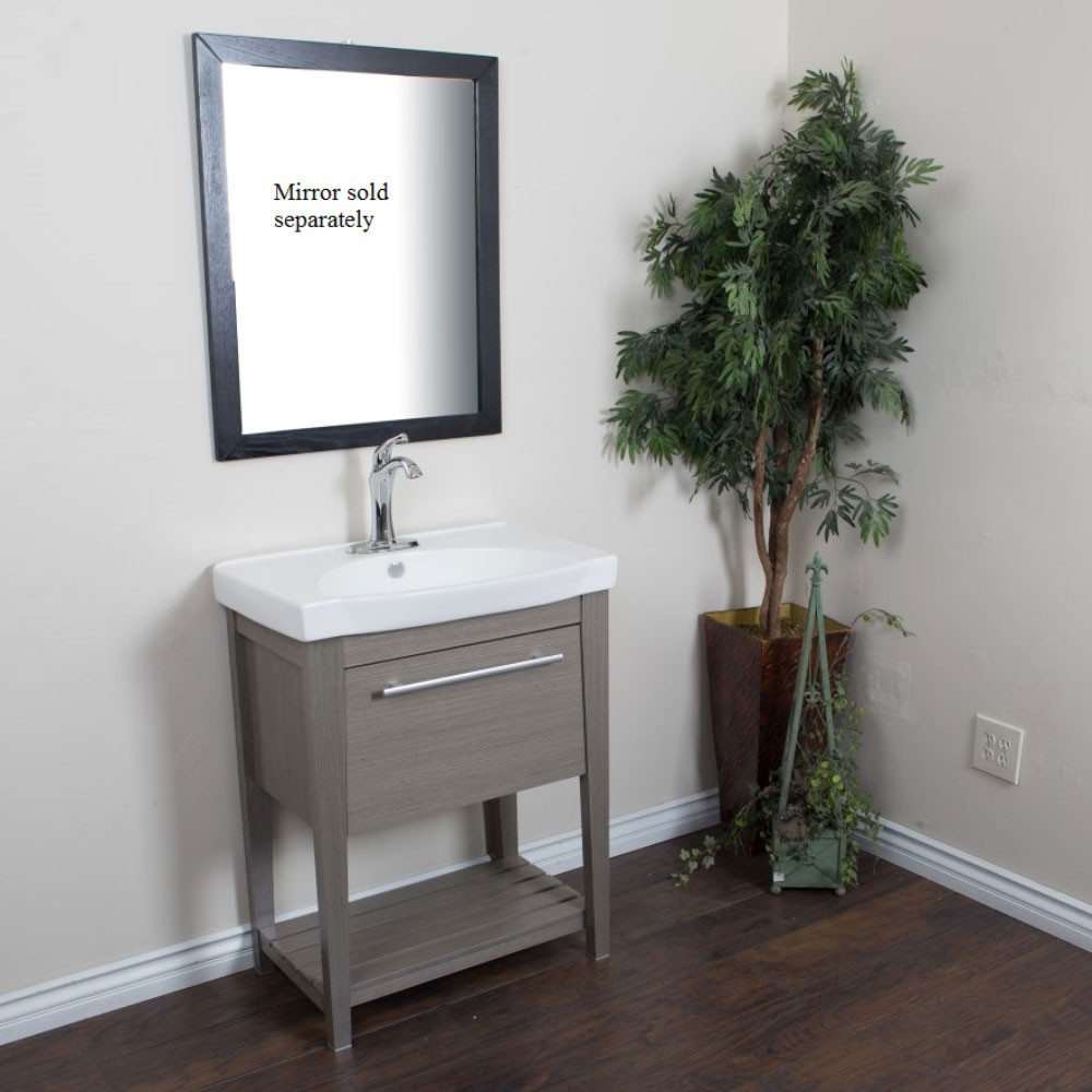 Bellaterra Home 804353-GY 27.5 In Single Sink Vanity Wood Gray