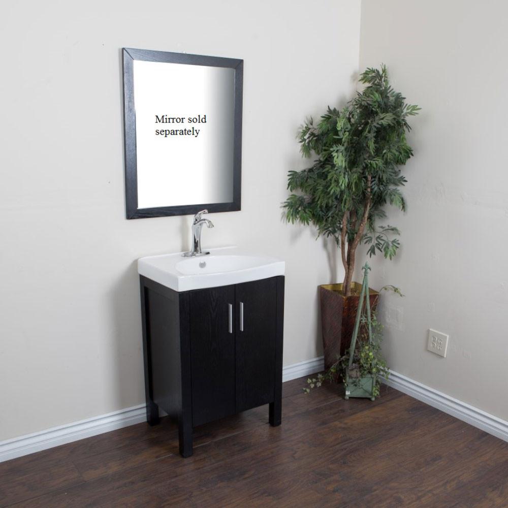 Bellaterra Home 804381-BL 23.8-Inch Single Sink Vanity Black