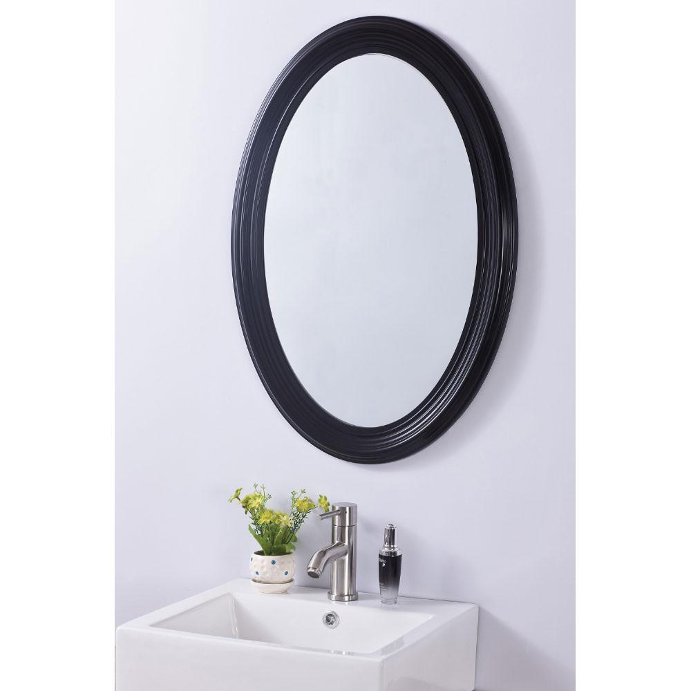 Bellaterra Home 808700A Classic Oval Bathroom Vanity Mirror