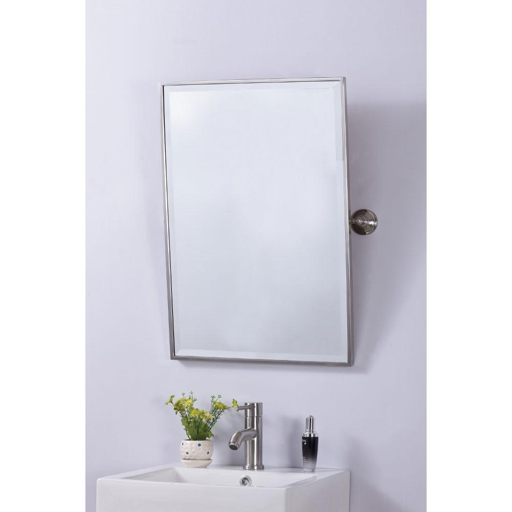 Bellaterra Home 808802A Brush Nickel Frame Vanity Tilt Mirror