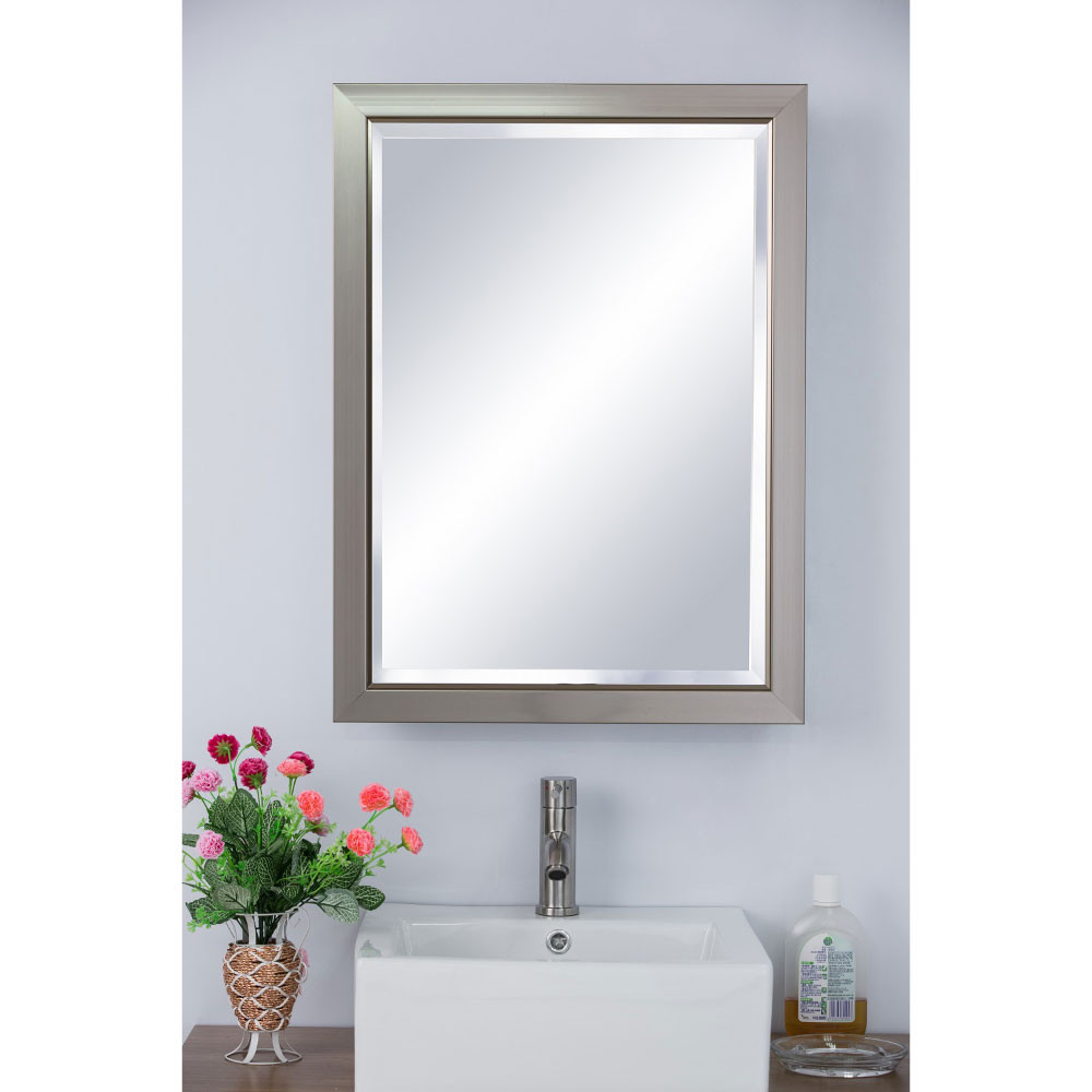 Bellaterra Home 808901 Surface Mount Mirrored Classic Medicine Cabinet
