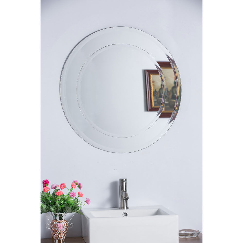 Bellaterra Home 808999C Round Bevel Edge Frameless Mirror