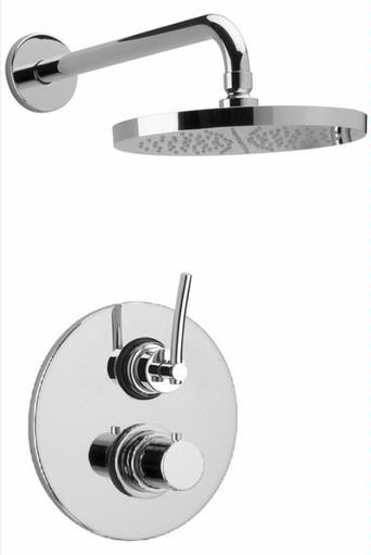 Polished Chrome LaToscana 81CR690KIT Thermostatic Valve w/ Shower Head