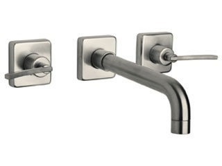 Brushed Nickel LaToscana 82PW207 3 Hole Wall Mount Bathroom Faucet