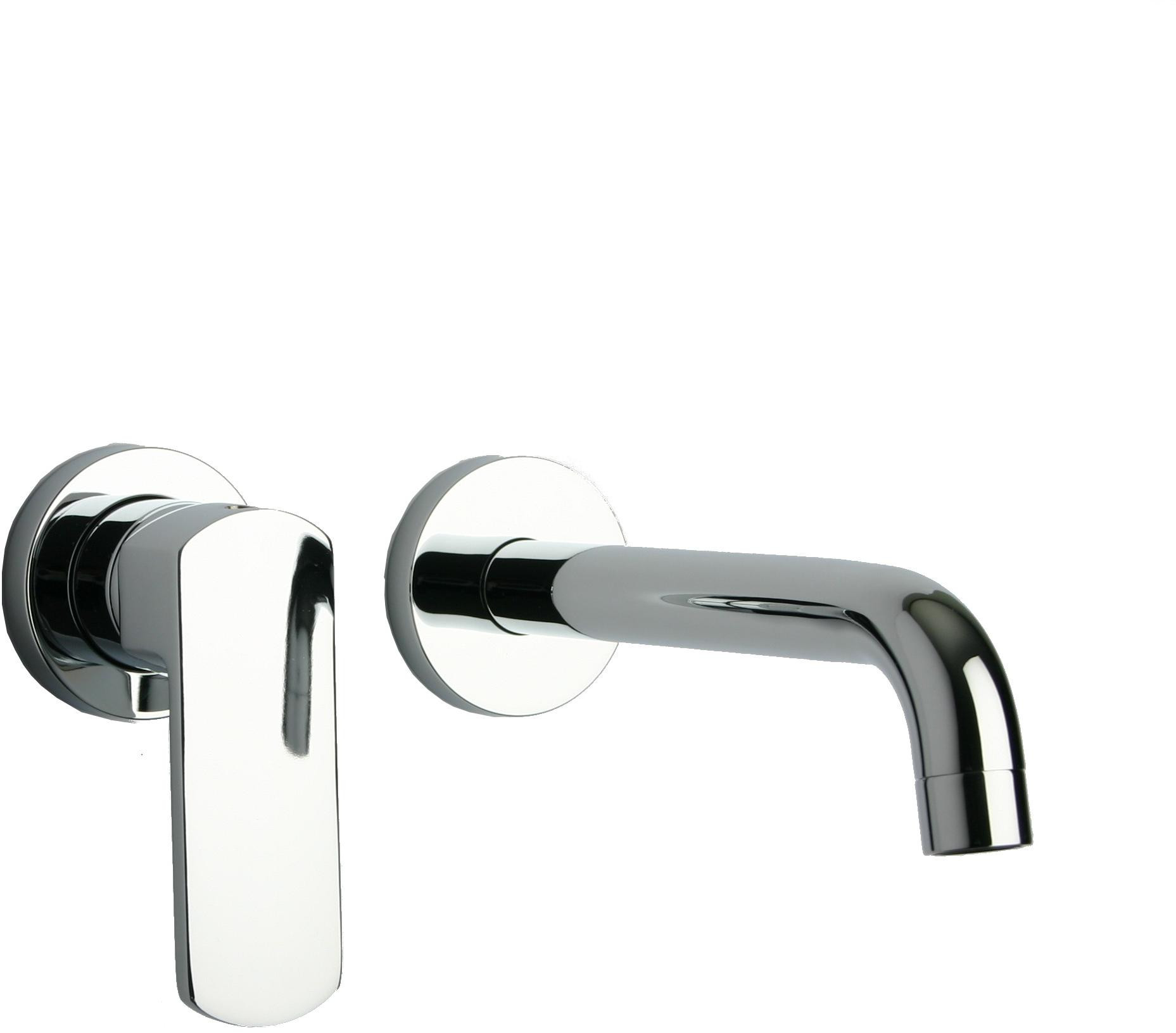 Polished Chrome LaToscana 86CR208 Handle Wall Mount Bathroom Faucet