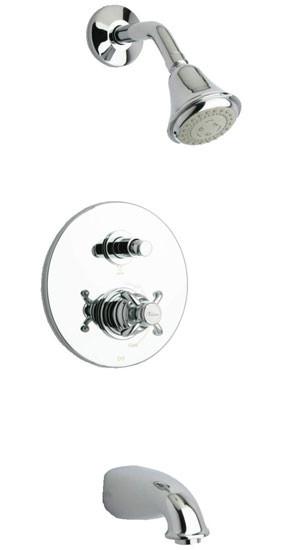 Polished Chrome LaToscana 87CR797 Pressure Balanced Tub & Shower Kit