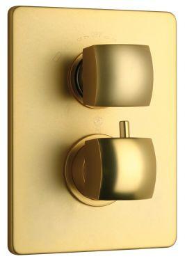 Satin Gold LaToscana 89OK690 Solid Brass Thermo Shower Valve