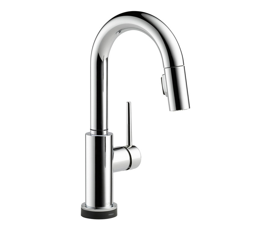 Delta 9959T-DST Trinsic Single Handle Pull-Down Bar/Prep Faucet in Chrome