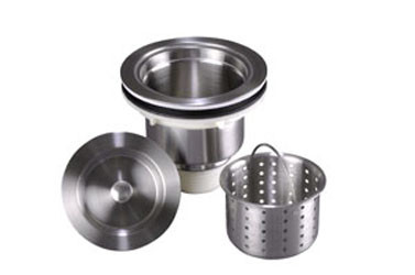 "Lenova A-SS-02 Solid Stainless Steel 3 1/2"" Kitchen Strainer"