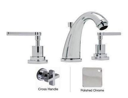 Rohl A1208XMAPC-2 3-Hole Avanti C-Spout Widespread Lavatory Faucet