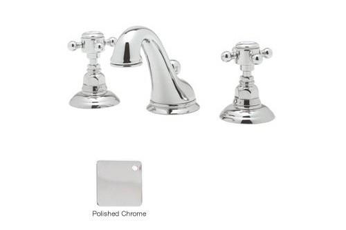 Rohl A1408XMAPC-2 Cross-Handle Viaggio C-Spout Widespread Lavatory Faucet