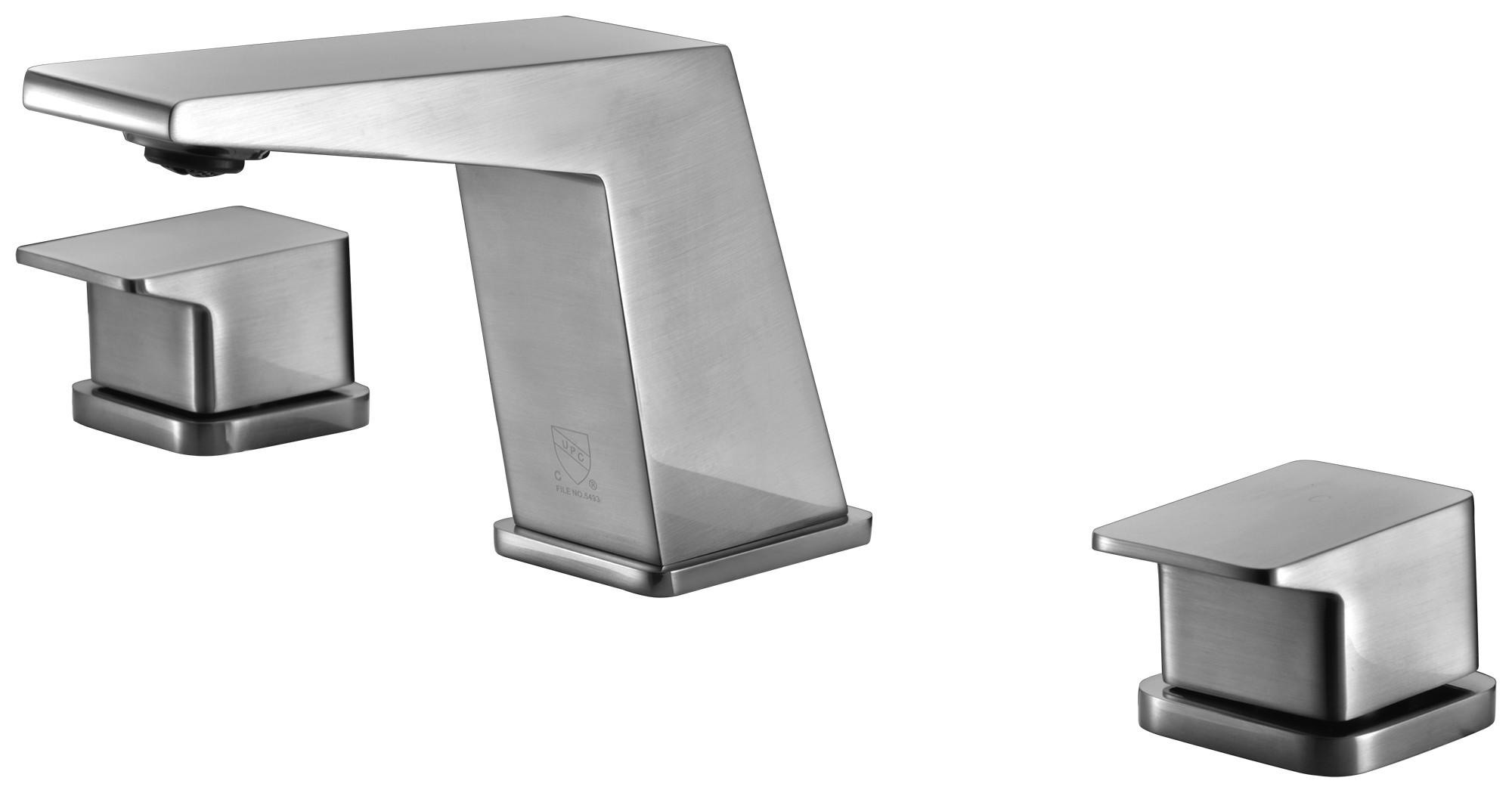 ALFI brand AB1471-BN Brushed Nickel Modern Widespread Bathroom Faucet