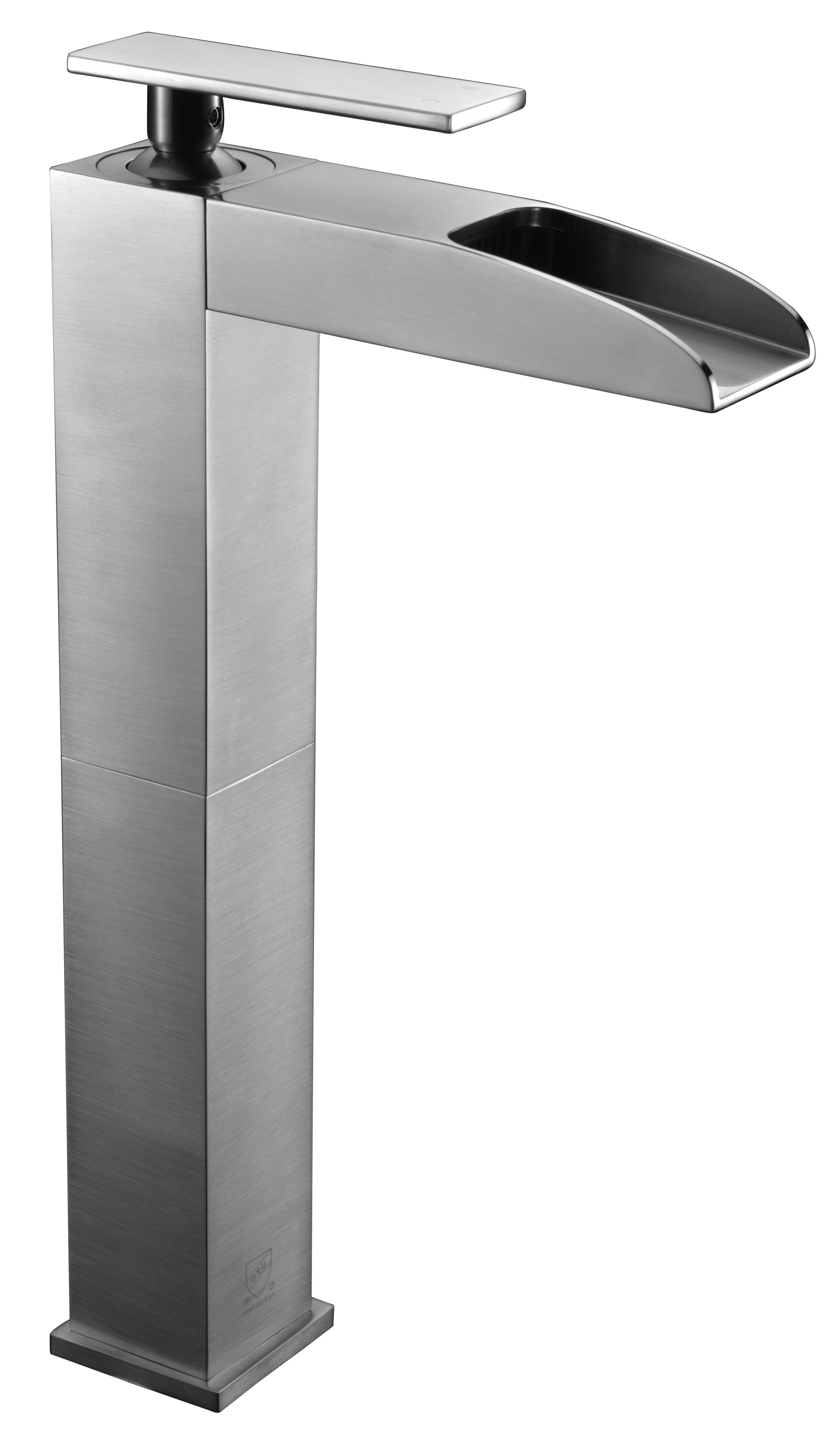 ALFI brand AB1597-BN Brushed Nickel Single Hole Tall Waterfall Bathroom Faucet