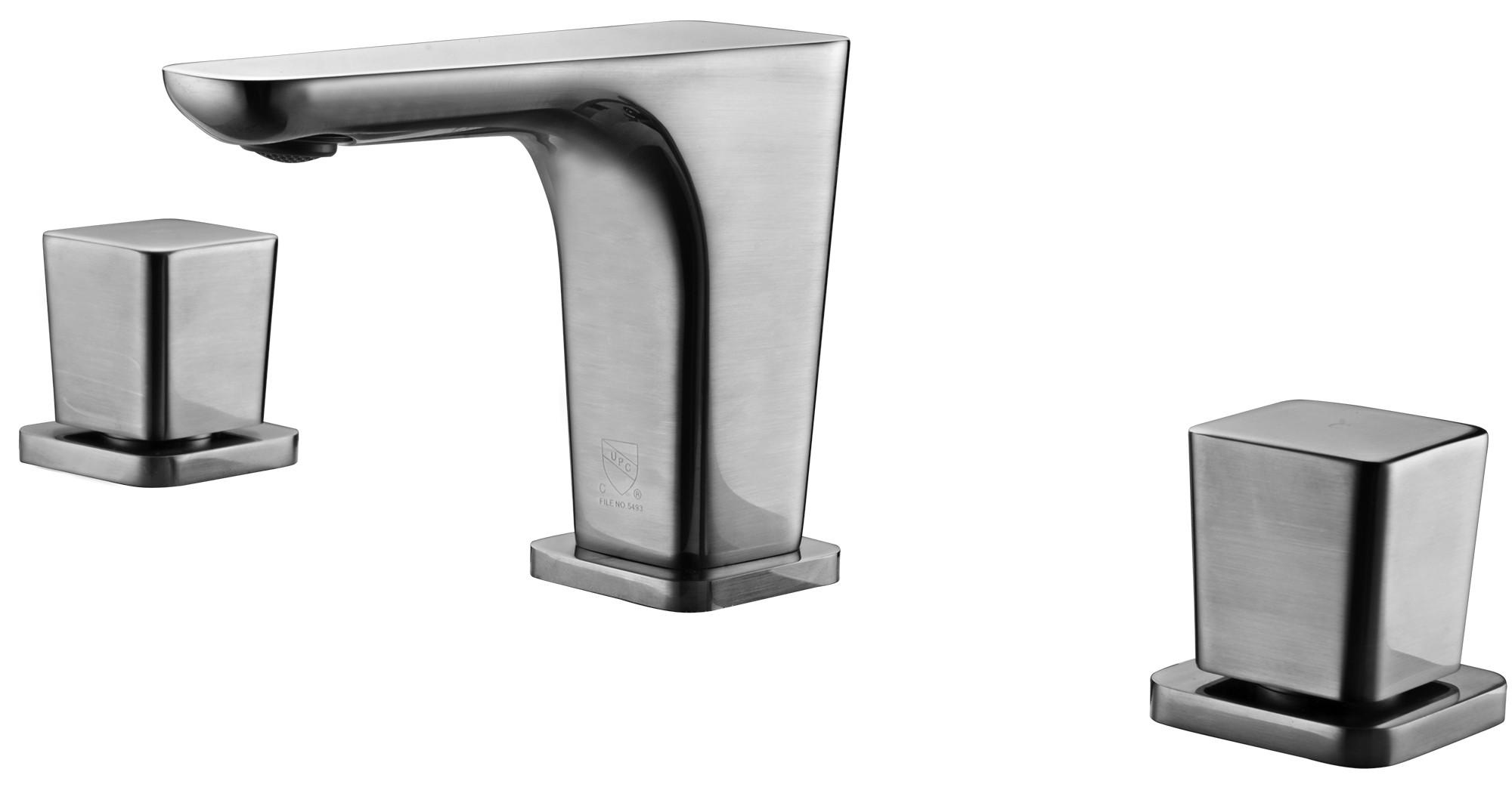 ALFI brand AB1782-BN Brushed Nickel Widespread Modern Bathroom Faucet