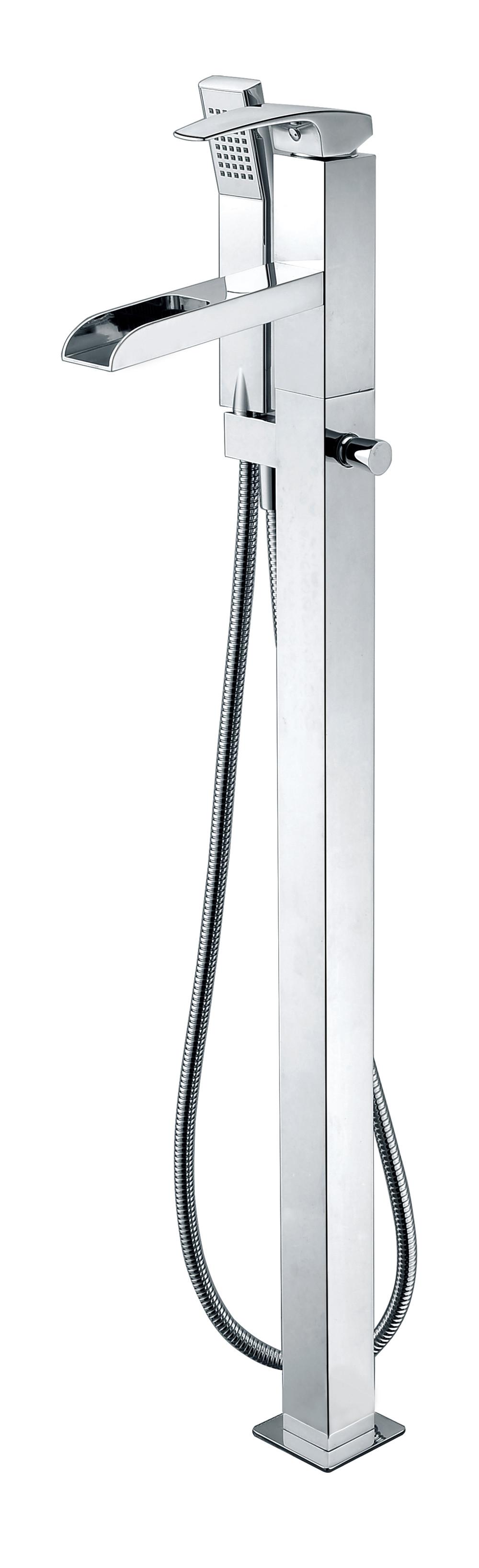 ALFI brand AB2843 Single Hole Floor Mounted Waterfall Tub Filler