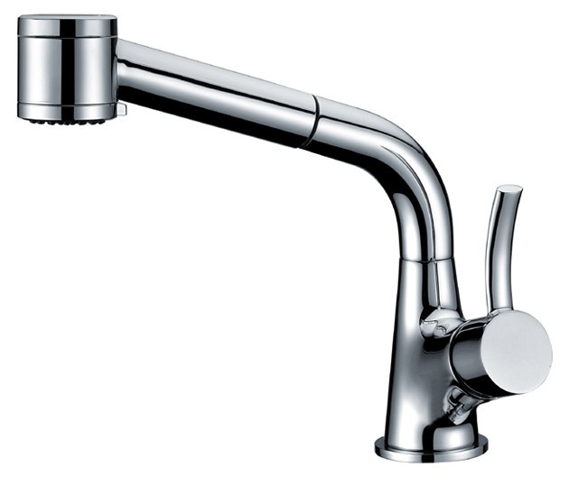 Dawn AB50-3707C Single Lever Pull-Out Spray Kitchen Faucet in Chrome