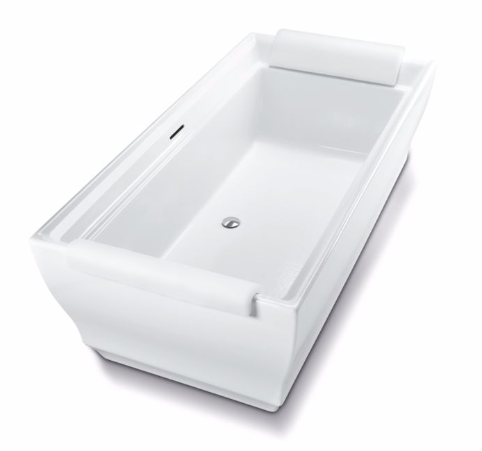 TOTO ABF626N#01D Aimes Acrylic Free Standing Bathtub With 2 Pillows