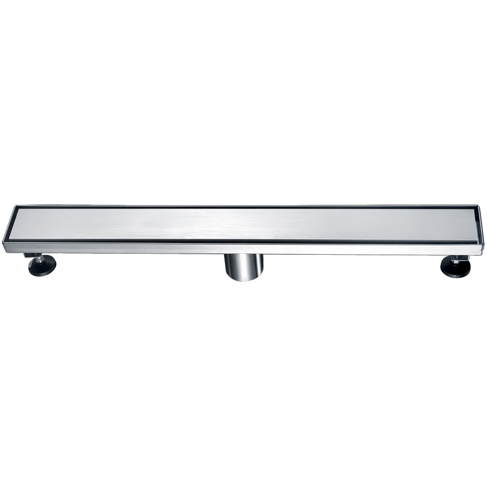 """ALFI brand ABLD24B 24"""" Long Stainless Linear Shower Drain with Solid Cover"""
