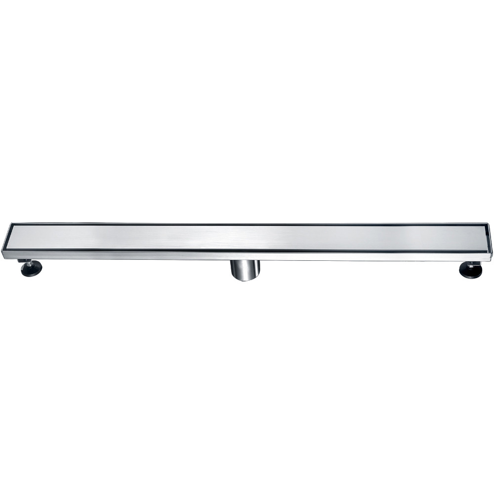 """ALFI brand ABLD32B-BSS 32"""" Modern Stainless Linear Shower Drain w/ Solid Cover"""