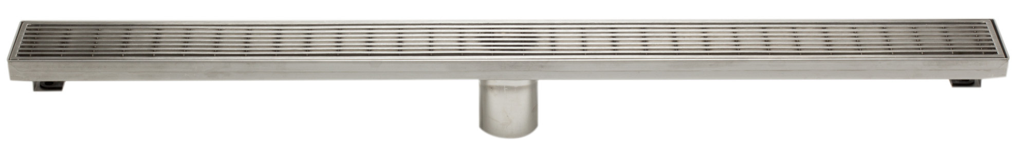 "ALFI brand ABLD32D 32"" Modern Stainless Steel Linear Shower Drain with Groove Lines"