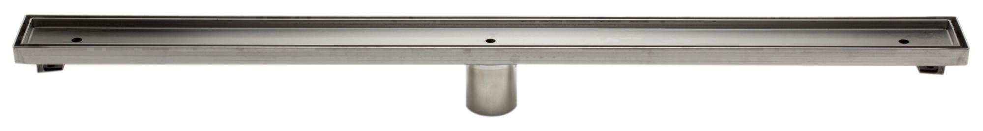 "ALFI brand ABLD36A 36"" Modern Stainless Steel Linear Shower Drain  w/o Cover"