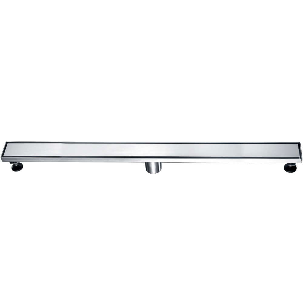 """ALFI brand ABLD36B-BSS 36"""" Modern Stainless Linear Shower Drain w/ Solid Cover"""