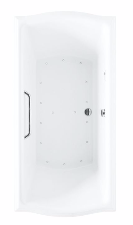 TOTO ABR781S#01Y Cotton Drop In Rectangular Air Bathtub With Right Blower