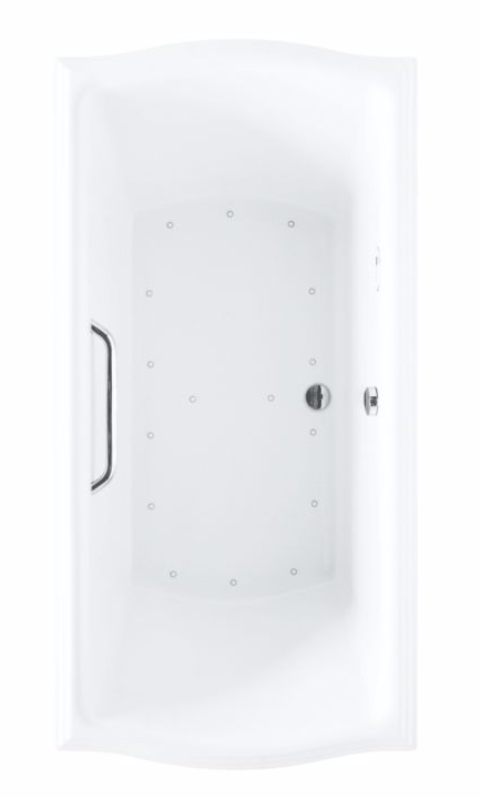 TOTO ABR781T#12Y Sedona Beige Acrylic Drop In Air Bathtub With Left Blower