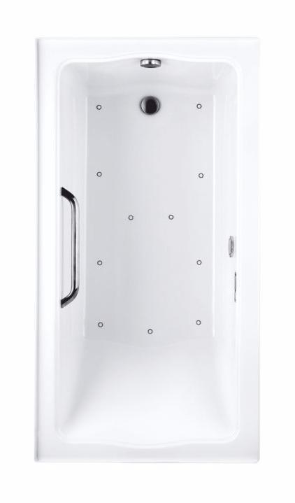 TOTO ABR782R#..N Clayton Acrylic Rectangular Air Bathroom Tub With Right Drain