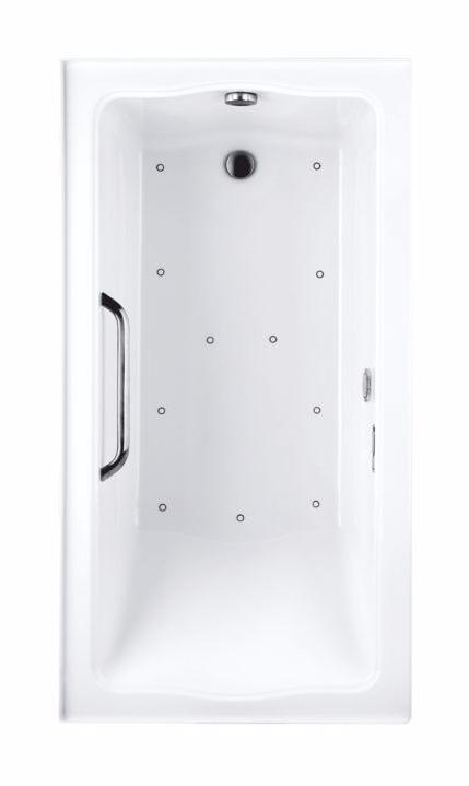 TOTO ABR782R#01Y..1 Clayton Acrylic Drop In Air Bathroom Tub With Overflow