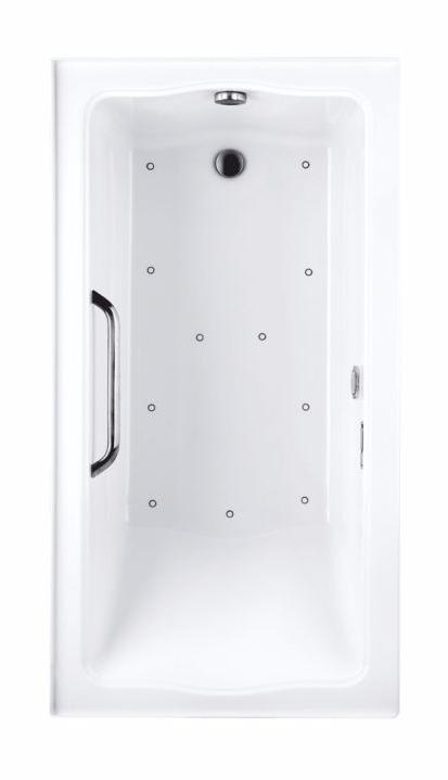 TOTO ABR782R#01Y Clayton Rectangular Acrylic Right Drain Air Bathroom Tub