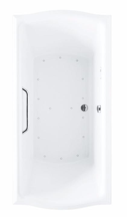 TOTO ABR784S#..N Clayton Acrylic Rectangular Air Bathroom Tub With Right Blower
