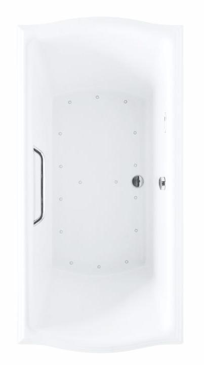 TOTO ABR784S#01Y Clayton Acrylic Drop In Installation Right Blower Air Bathtub