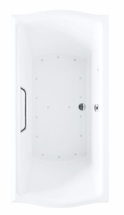 TOTO ABR784T#01Y Clayton Acrylic Rectangular Air Bathtub With Left Blower