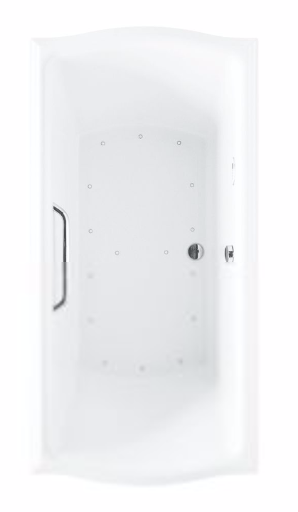 TOTO ABR785S#..N Clayton Acrylic Air Bathtub With Right Blower And Overflow