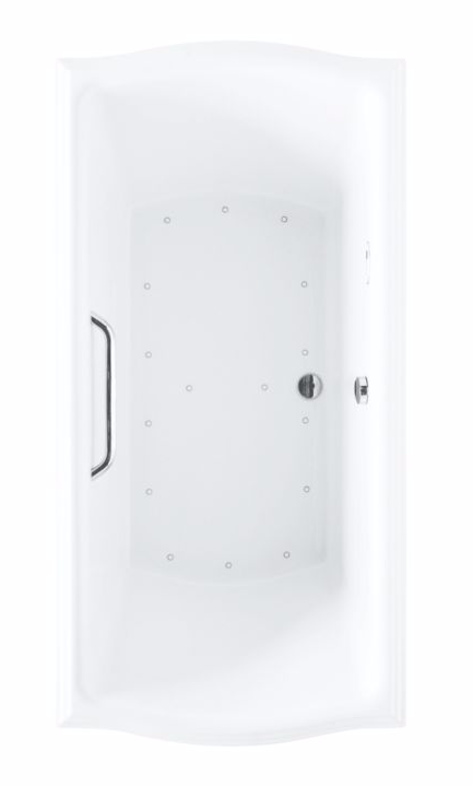 TOTO ABR785T#01Y Traditional Clayton Acrylic Drop In Air Bathroom Tub With Left Blower