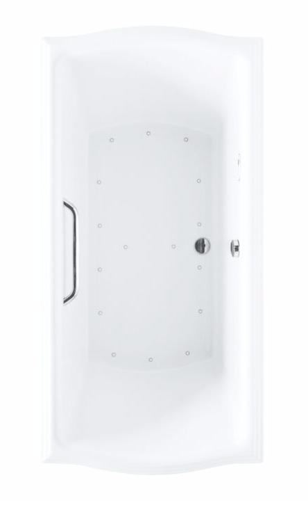 TOTO ABR785T#12Y Clayton Acrylic Rectangular Air Bathtub With Left Blower