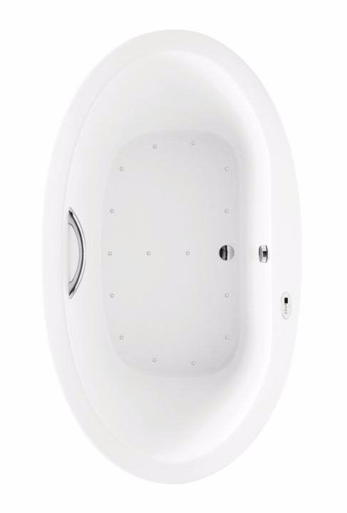 TOTO ABR794S#12Y Nexus Oval Acrylic Drop In Air Bathtub With Right Blower
