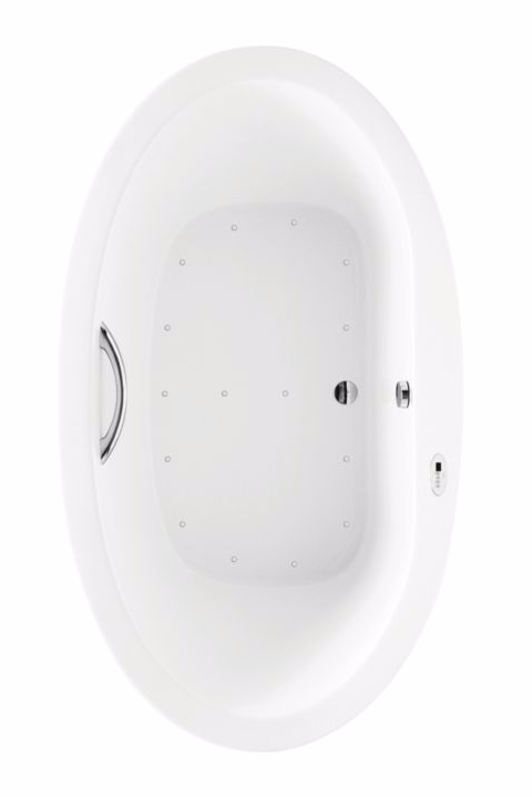 TOTO ABR794T#01Y Nexus Oval Acrylic Air Bathroom Tub With Left Blower