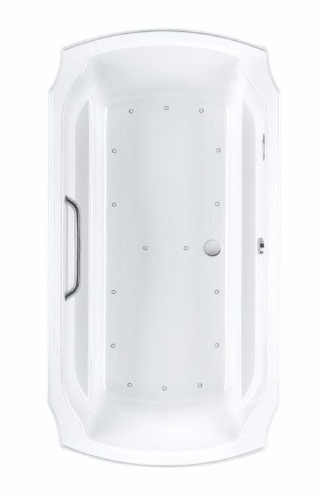 TOTO ABR974S#01Y Guinevere Rectangular Acrylic Right Blower Air Bathtub