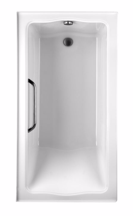 TOTO ABY782P#01Y Clayton Cast Acrylic Drop In Soaking Bathtub With Left Drain