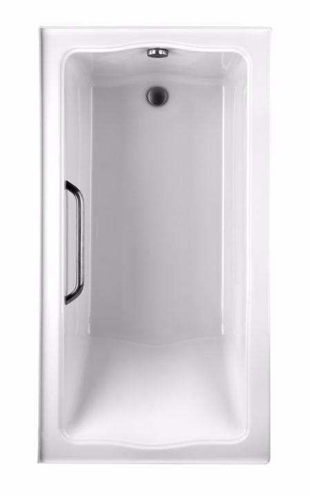 TOTO ABY782P#01Y..3 Clayton Rectangular Acrylic Soaking Bathtub With Left Drain