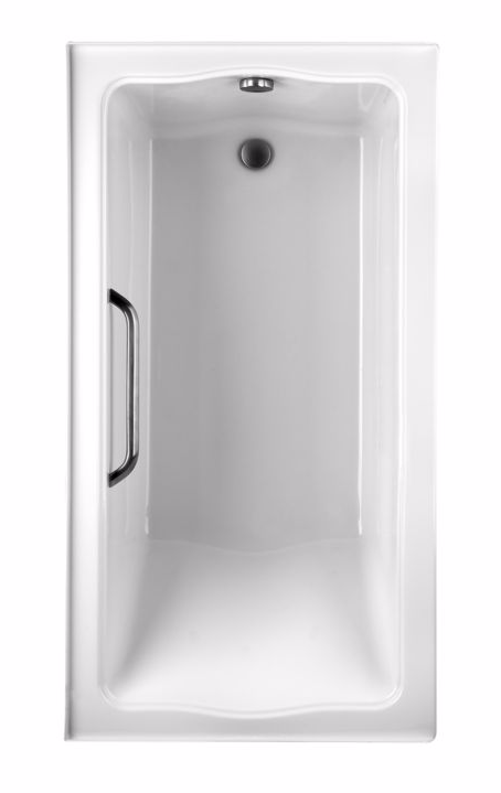 TOTO ABY782P#12Y Clayton Acrylic Soaker Tub With Left Drain And Grab Bar