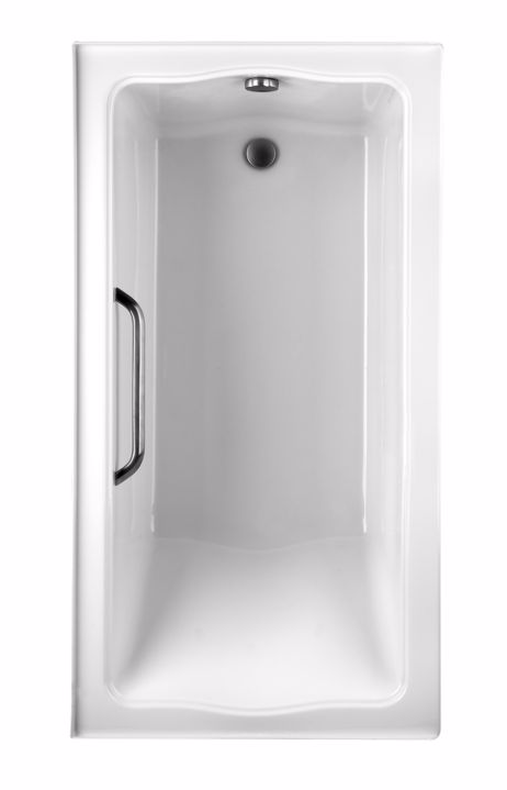 TOTO ABY782Q#01Y..1 Clayton Acrylic Soaker Bathtub With Grab Bar And Right Drain