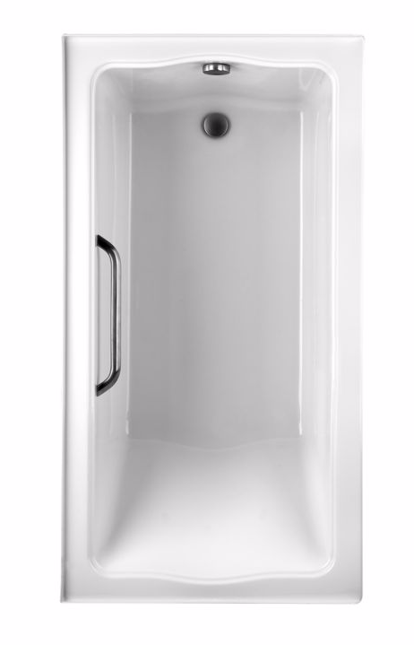 TOTO ABY782Q#01Y Clayton Acrylic Soaker Bathroom Tub With Right Drain